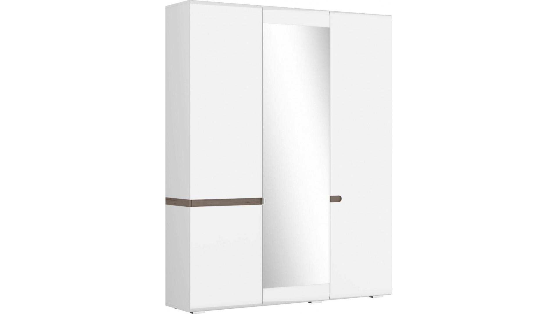Шкаф 3х. створчатый  Ультра (540) Белый/Белый гл.