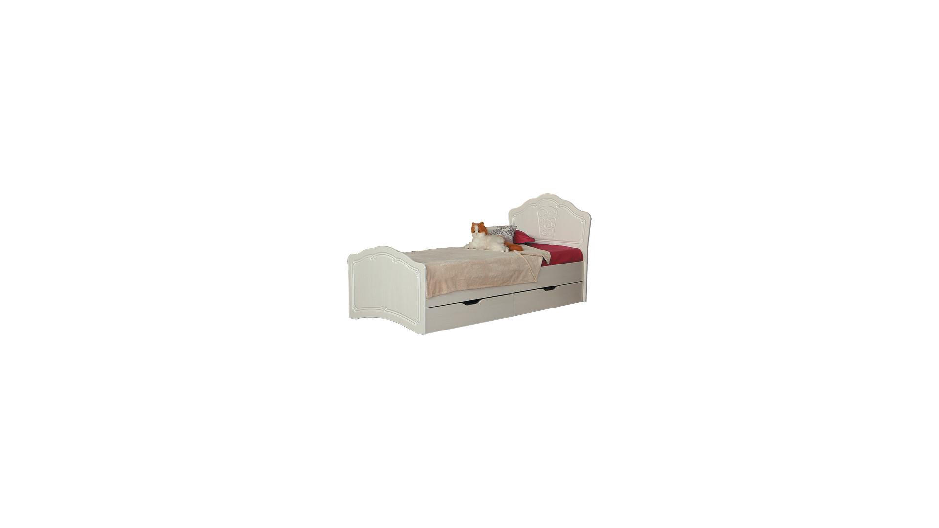 Кровать №3 0,8 с ящиками (с основанием)