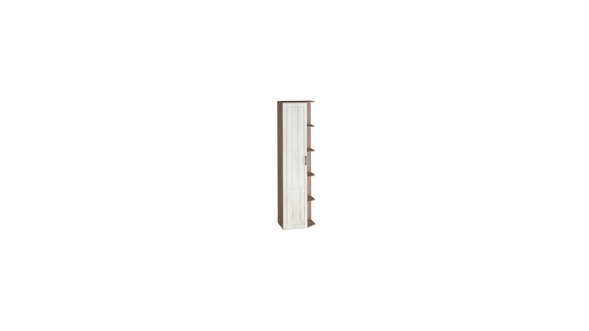 Шкаф-стеллаж левый Афина (540) Винтаж Оксид/Кантри