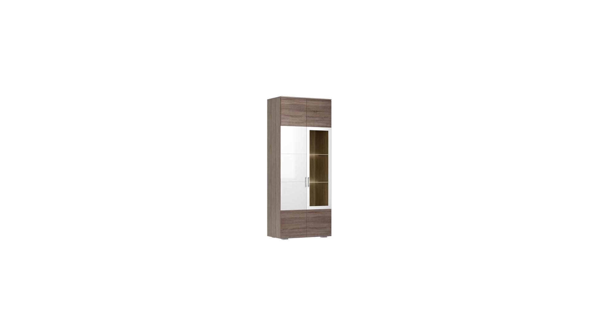 Шкаф-витрина  Барселона Винтаж оксид/Белый глянец