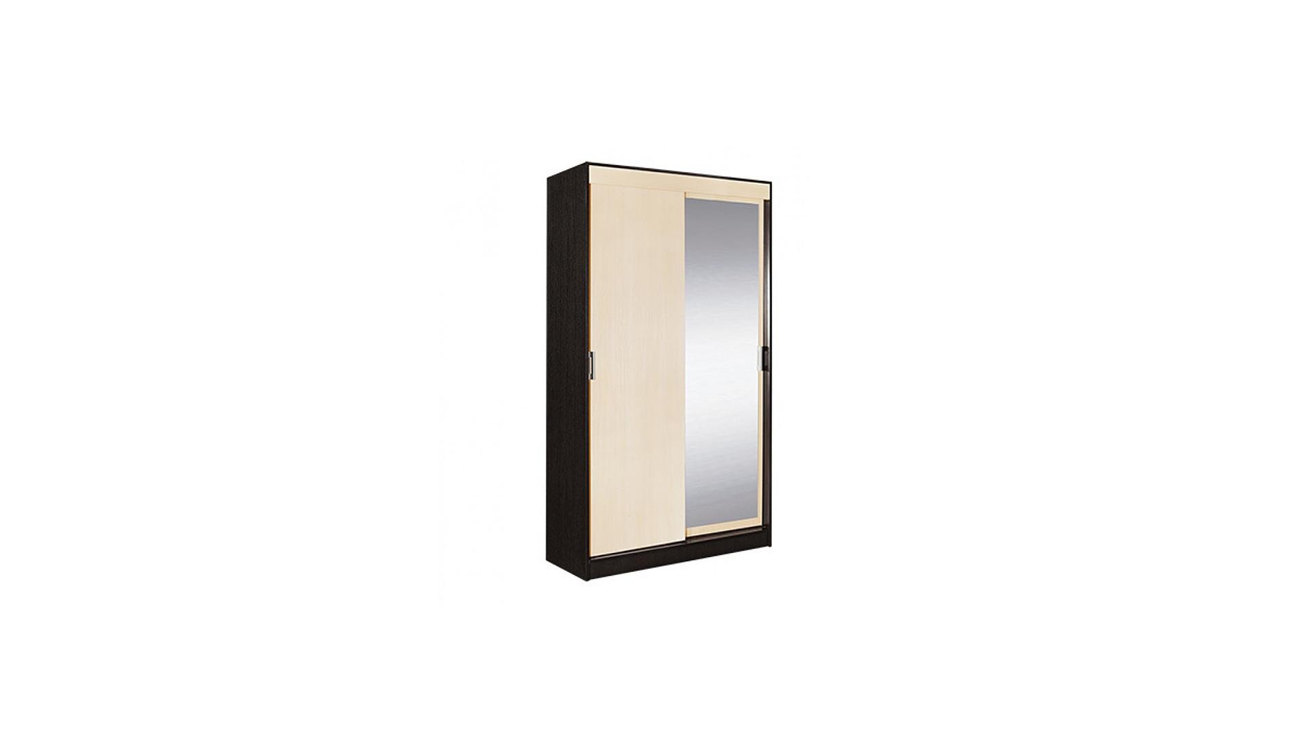 Шкаф-купе 2-х створчатый с 1 зеркалом Светлана Венге/Дуб молочный