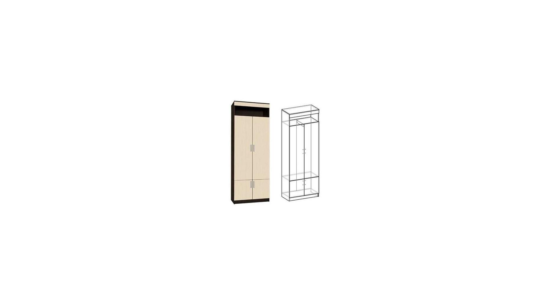Шкаф 2х створчатый Ната-Лина Венге/Дуб молочный