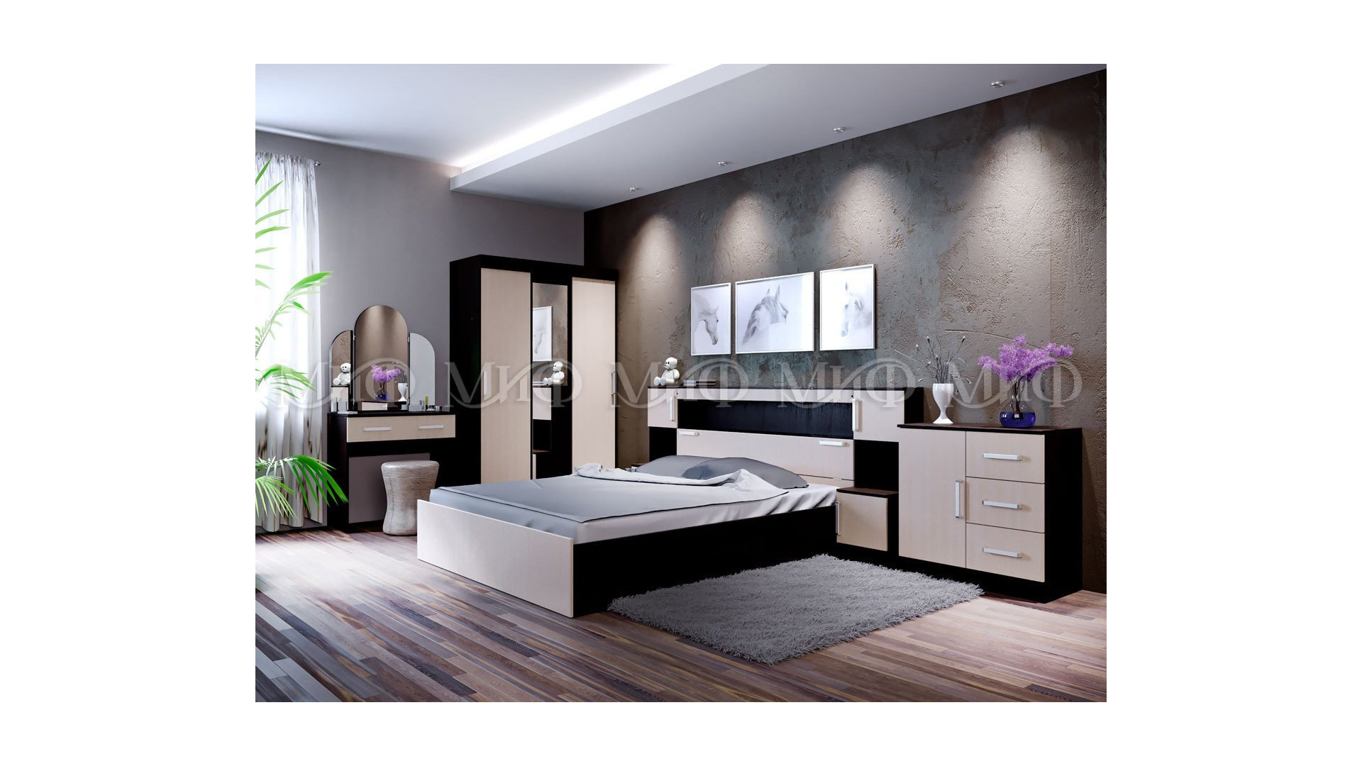 Модульная спальня Бася Миф